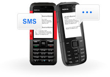 SMS news service