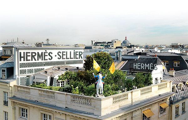 Hermes rooftop garden Paris