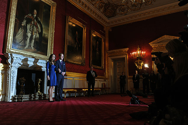 Britain S Prince William And His Fiancée Kate Middleton Pose For Photographers In The State Rooms Of St James Palace Central London On November 16 2010