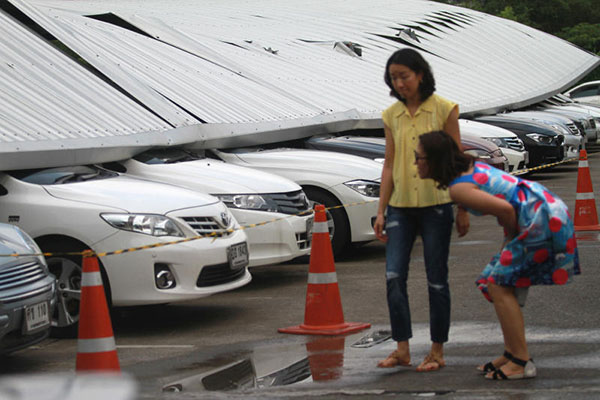 Car Park Roofing Collapses At Mall