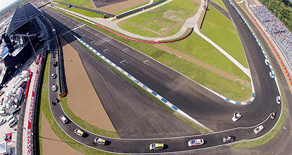 Burning rubber: A bird's-eye view of Thailand's first world-class motor racing facility, the Chang International Circuit, in Muang district, Buri Ram.