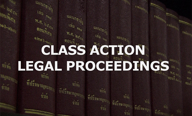 Class action legal proceedings