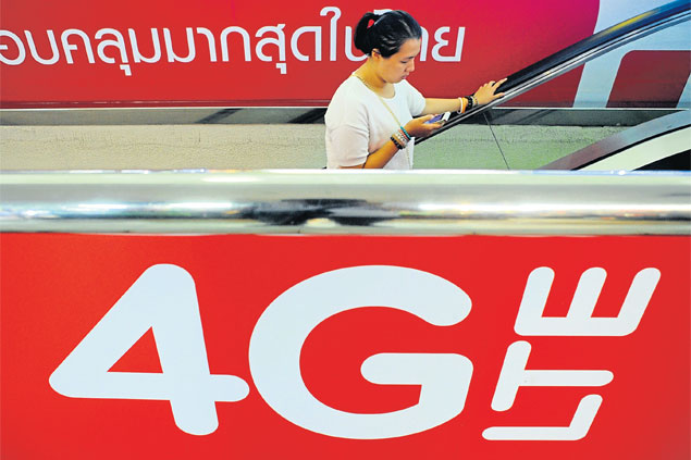 Despite the advertised hype, Thais may have to wait a little longer to enjoy full 4G service.Wichan Charoenkiartpakun
