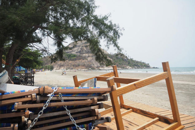Unspoiled: Hua Don is separated from the busy part of Hua Hin by Takiab hill. New rules to preserve the natural beauty of the bay mean that beach vendors are banned from operating every Wednesday.