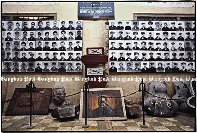 House of horrors: The Khmer Rouge torture centre they called S-21 is now known as the Tuol Sleng Genocide Museum.