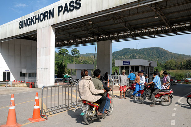 Prachuap Khiri Khan is hoping to have its Singkhorn Pass upgraded into a permanent checkpoint for Thailand and Myanmar. (Photo by Chaiwat Satyaem)