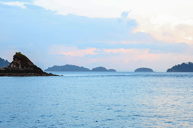 Untouched islands as far as the eye can see in the Mergui archipelago. (Bangkok Post photo)