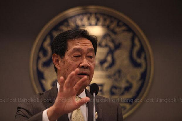 Deputy Prime Minister MR Pridiyathorn Devaluka on Monday opposed a move to legalise casinos. (File photo by Thiti Wannamontha)