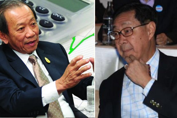 Finance Minister Sommai Phasee (left) wants to have casinos (plural) in regulated gambling complexes, but the economy czar, Deputy Prime Minister MR Pridiyathorn Devakula, says they cause social harm.