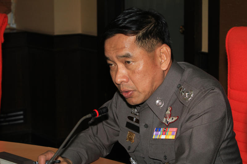 Then-metropolitan police bureau commissioner Pol Lt Gen Khamronwit Thoopkrachang, in June 2013. (Bangkok Post file photo)