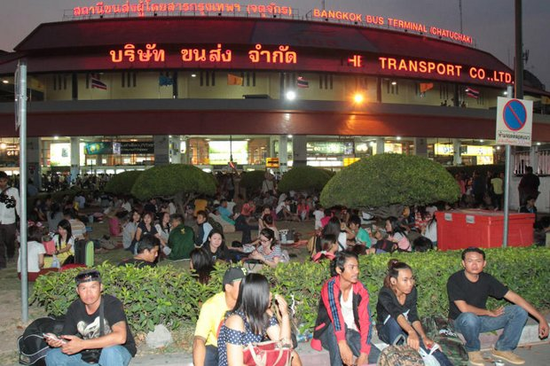 The Transport Ministry has found the 80-rai plot it needs to relocate the Mo Chit 2 bus terminal to the Rangsit area, to serve the North and Northeast. (Photo by Tawatchai Kemgumnerd)