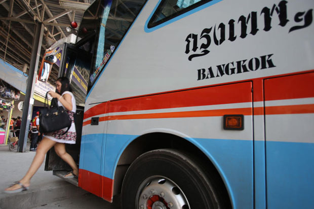 Transport Co plans to extend its bus service via Laos to Vietnam in the near future. (Photo by Jiraporn Kuhakan)