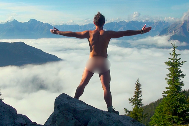 Canadian Emil Kaminski, one of the first and most prominent figures in the naked-tourism phenomenon, has posed in the buff at numerous historical and cultural sites around the world. (dpa photo)