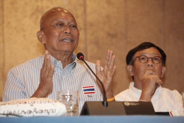 Ex-monk, ex-politician Suthep Thaugsuban promises no more street rallies, but only if the military drops its roadmap for total