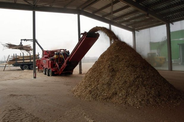 Wood is processed at a biomass thermal electricity generation plant in Ivankiv, in the Ukraine. The math shows that biomass for Krabi and Lampang is cheaper in the long run in many ways. (Reuters photo)