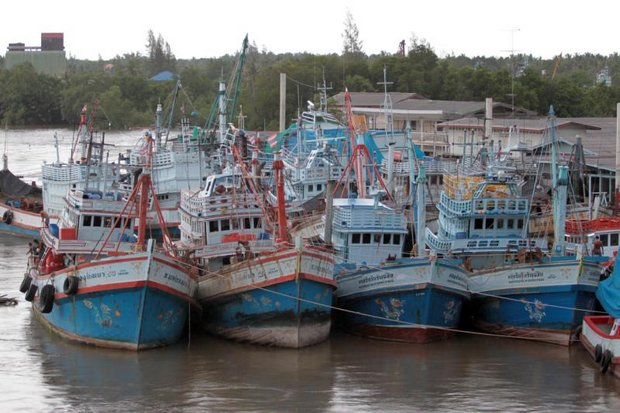 The 7,000 legally licensed trawlers operating from Thailand will be ordered ashore for five days a month to combat overfishing in the region. (Bangkok Post file photo)