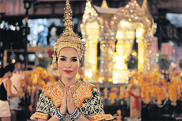 Kanyanan Jittreenit, 33, one of the dancers of Damrong Thai Dance Drama crew.