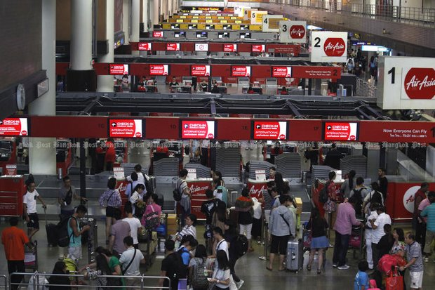 Don Mueang International Airport has become the top airport on Earth for budget airlines, pushing 22.5 million passengers through per year. (File photo)