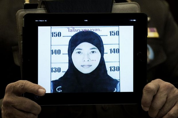 Wanna Suansan, of Phangnga, also known by her Muslim name Maisaroh, was the first named suspect in the bombing investigation, and is still the only Thai who is officially suspected of involvement in the Aug 17 bombing at the Erawan shrine. (Bangkok Post file photo)