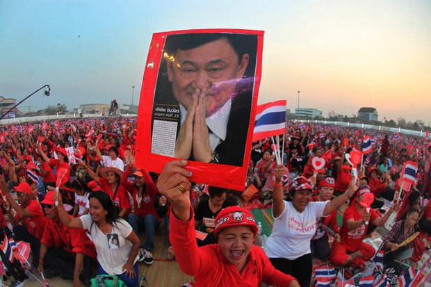 One of the last pro-Thaksin, pro-Yingluck rallies in the Northeast was this one in April, 2014, held to show support for Yingluck Shinawatra's government, which was falling apart under political and legal pressure. (Photo by Thiti Wannamontha)