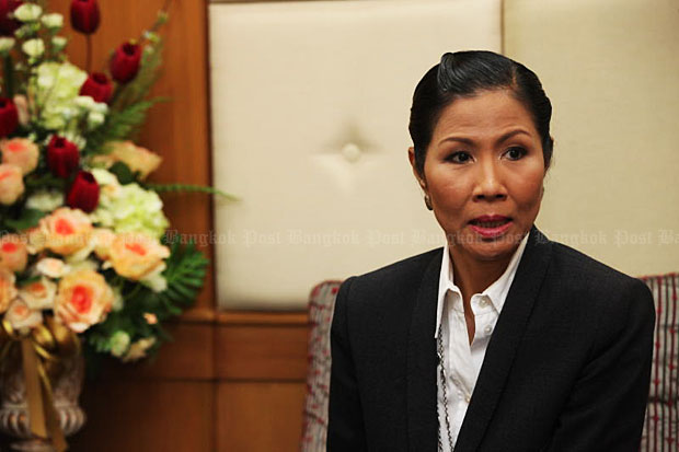 Tourism and Transport Minister Kobkarn Wattanavrangkul believes extra public holidays to allow extra-long weekends will boost domestic tourism. (Bangkok Post file photo)