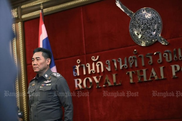 National police chief Chakthip Chaijinda said on Thursday to expect more arrests in the case of the fortune teller and his two associates, in a new lese majeste scandal he said is similar to last year's case of ex-Central Investigation Bureau (CIB) chief  Pongpat Chayaphan. (Photo by Pornprom Satrabhaya)