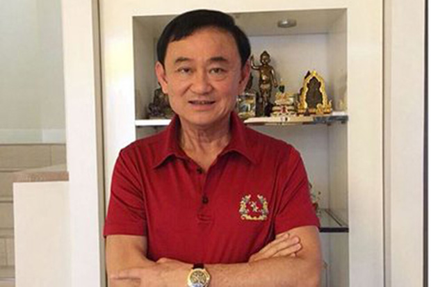 Thaksin Shinawatra posts a picture of him dressed in red on Sunday. (Photo from Thaksinlive Instagram)