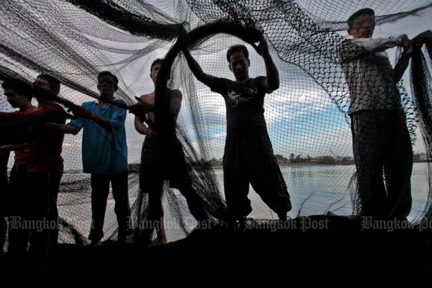 The fishing industry is under heavy pressure after the European Unionissueda yellow card in April alleging aninadequate framework to fight illegal, unreported and unregulated fishing, or IUU. (Photo by Chanat Katanyu)