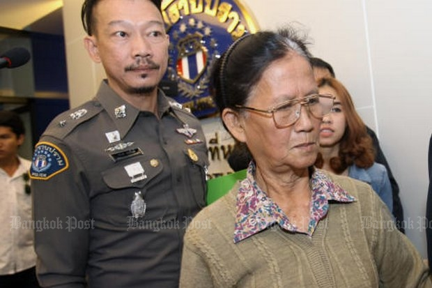 Convicted of killing her son's fiancee because the girl wasn't good enough for him, Juree Jan-ngam then faked her own death and went on the run. (Photo by Pornprom Satrabhaya)