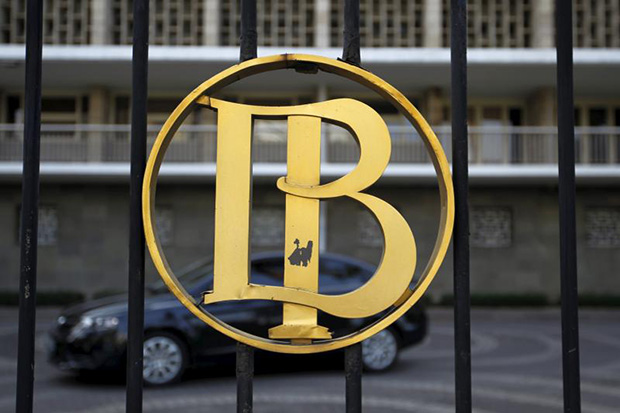 A logo of Bank Indonesia is seen at a Bank Indonesia building in Jakarta on Wednesday. (Reuters photo)