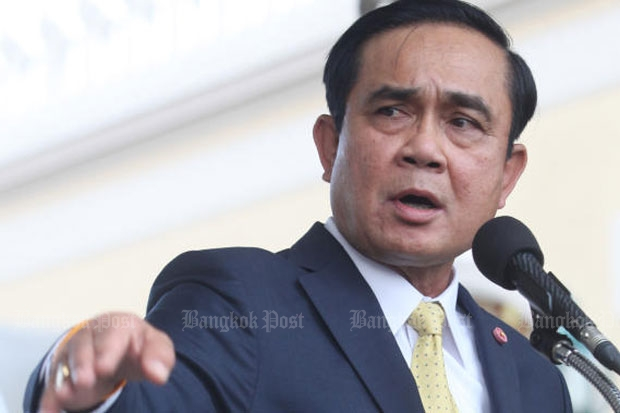 Gen Prayut insisted construction on the rail line will start soon.(Photo by Thiti Wannamontha)