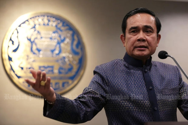 Prime Minister Prayut Chan-o-cha told reporters after the cabinet meeting at Government House on Tuesday that the GMO bill was dead. (Photo by Chanat Katanyu)