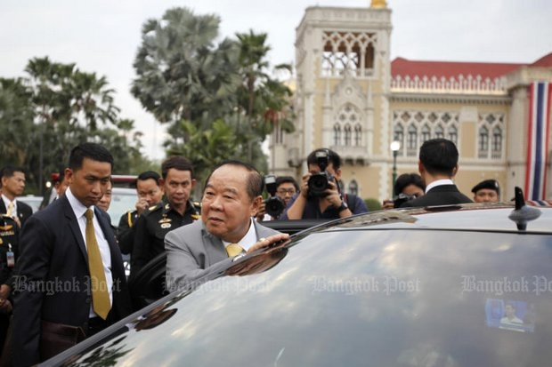 Deputy Prime Minister Prawit Wongsuwon paused getting into his limousine to tell the media Tuesday he is convinced