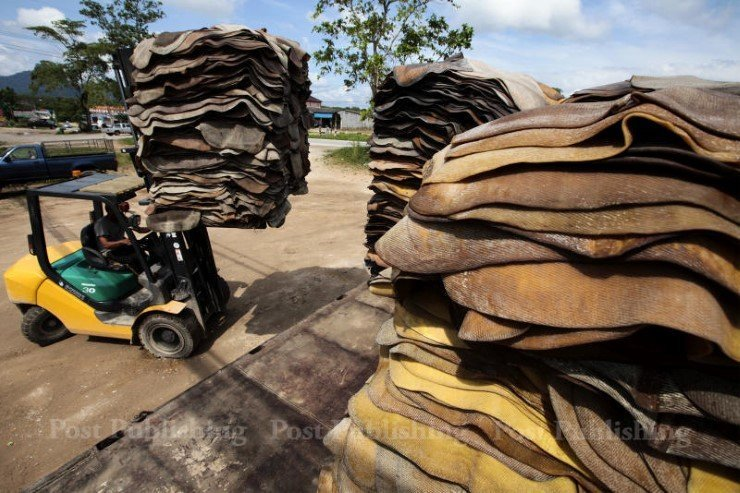 Workers in the South are moving quickly to stack sheets in anticipation of government's decision to begin purchase at prices far above market prices. (Posts Today file photo)