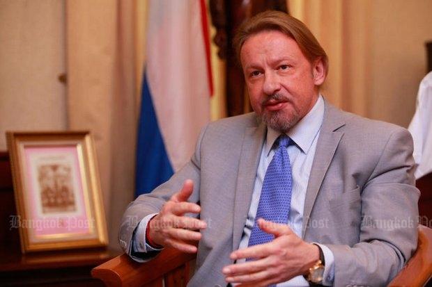 Kirill Barsky, Russian ambassador to Thailand: Best relations since the tsars. (Photos by Jiraporn Kuhakan)