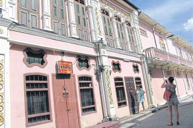 Phuket's old town is a favourite among tourists.