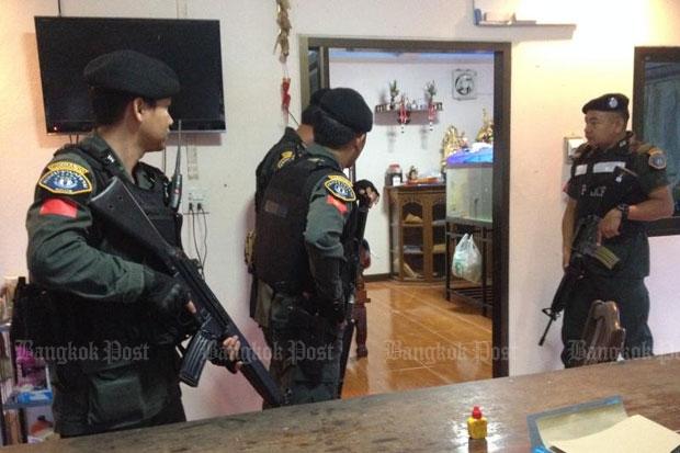Commandos are raiding the home of an