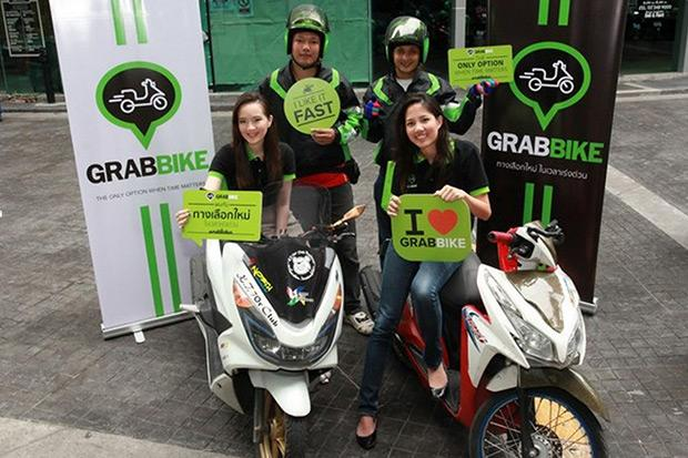 The Land Transport Department has ordered GrabBike to suspend services until it complies with rules. (Grab Thailand photo)