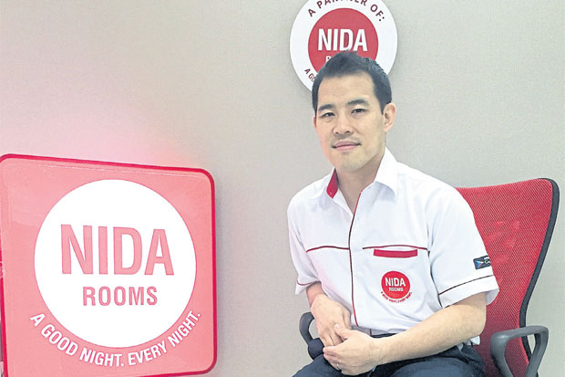 Mr Atakawee says the Nida Rooms concept is new to Thailand. Target customers include backpackers, local salespeople, civil servants and small-business owners.
