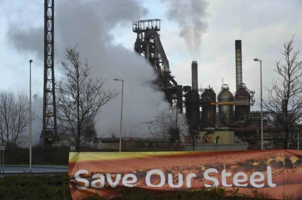 A general view of the Tata Steel plant in Port Talbot, Wales yesterday. (Reuters photo)