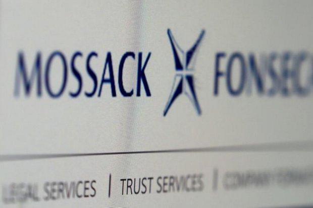 The website of the Mossack Fonseca law firm, on Monday. (Reuters photo)