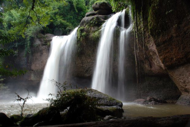 Haeo Suwat waterfall in Khao Yai National Park. The Department of National Parks, Wildlife and Plant Conservation has earmarked 500 million baht to upgrade the 50 most popular national parks. (Creative Commons Licence via Wikipedia)