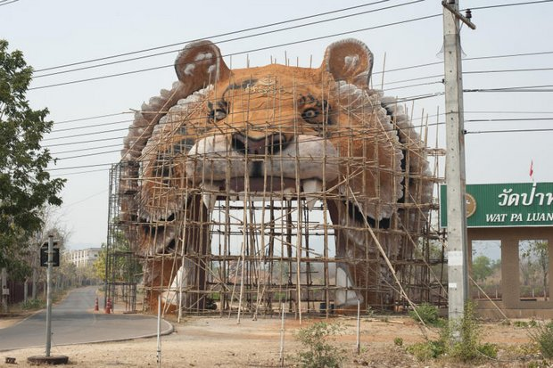 Work began before Songkran on a location to site the newly approved zoo near the existing park. (Photo by Cory Wright)