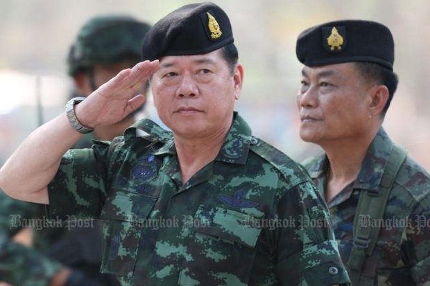 Royal Thai Army commander Gen Teerachai Nakwanich says he is convinced anti-coup elements are determined to cause public unrest, and he is determined to stop them. (Photo by Pattarapong Chatpattarasill)