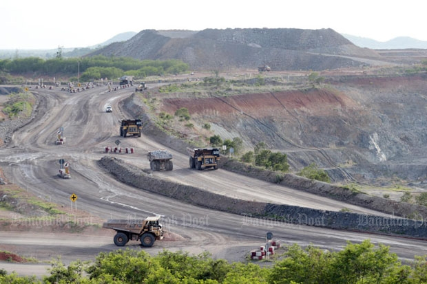 The gold mine of Akara Resources Plc in the Chatree deposit where Phetchabun and Phichit provinces adjoin (photo by Thiti Wannamontha)