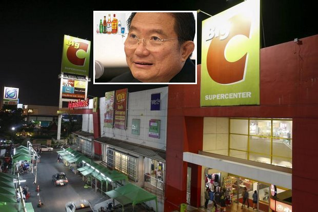 TCC Group owned by super-billionaire Charoen Sirivadhanabhakdi (inset) will pay at least 50 billion baht to buy out Central Group's 25% share in Thai Big C operations - which then will try to expand Big C stores in Vietnam. (Reuters photo)