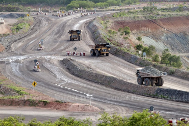 The gold mine of Akara Resources Plc where Phetchabun and Phichit provinces adjoin (photo by Thiti Wannamontha)
