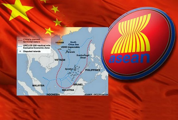 China has problems with some Asean countries over its claim of sovereignty of everything within the red-dotted line in the South China Sea. (Illustration courtesy Radio Free Asia/RFA.org)