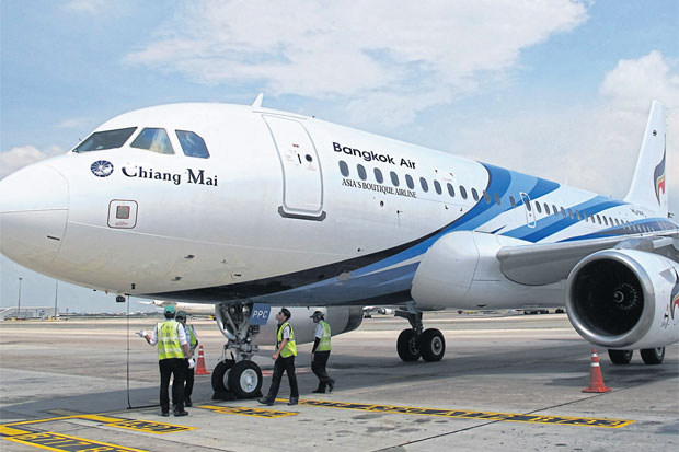 Bangkok Airways will deploy the Airbus 319 jet for its return to China. (Photo by Boonsong Kositchotethana)