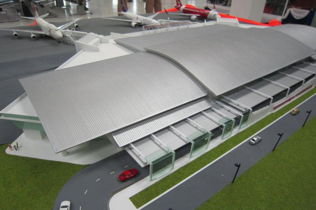 An artist's conception of Terminal 2 at the Royal Thai Navy-operated U-Tapao Rayong-Pattaya International Airport, scheduled to open June 1 but delayed until 'later this year'. U-tapao expects to handle 3 million passengers in 2018.